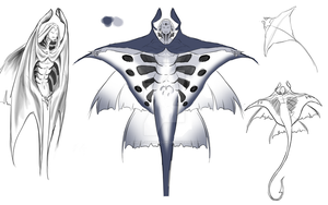 MantaRay Character Concept Art by Eimell-TheMooCow