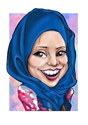 Hijab lady by silifulz