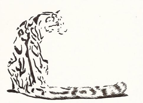 Clouded leopard bw by Canuckdesz