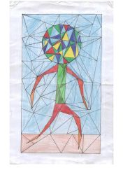 Colorful Triangle Stick Figure by GoldFlash101