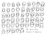 anime male hair styles by totamikun