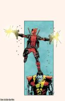 Deadpool and Colossus by Nolicedul