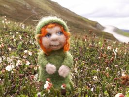 Tiny Mountain Girl by FeltAlive