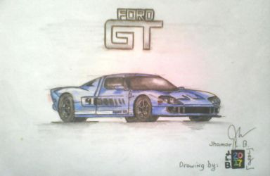 Ford GT by SammfeatBlueheart