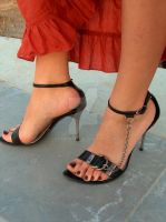Cyan in Sandals by Footografo