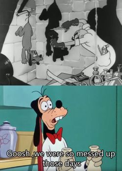 Goofy thinks the 30's was Messed up for Disney by kouliousis