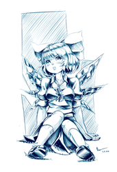 Nsio Inks: Touhou Cirno (LIVEstream result) by Nsio