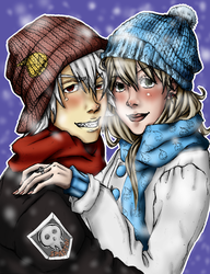 Soul and Maka : colored by ROXXURZSoxxurzXD