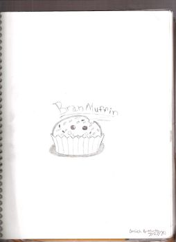 My Breakfast, the Bran Muffin by arielxpopxrox765