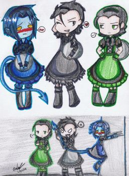 Chibi Marvel Maids by Mischief-Soul-Lover