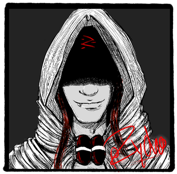 PZYCHO, his hood, and his signature! by SLYKM