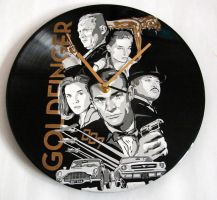 James Bond 007 Goldfinger vinyl record by vantidus