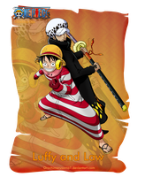 Luffy and Law by orochimarusama1