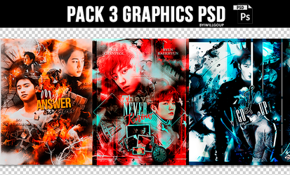 + Pack 3 Graphics PSD by IwillGoUp