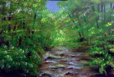 Forest stream by Verbeley