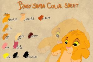Baby Simba color sheet by Takadk