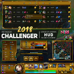Challenger HUD - League of Legends by AliceeMad