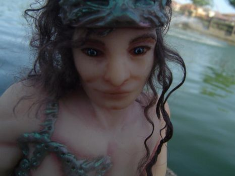 Male Fairy Art Doll Sculpture by LindaJaneThomas