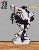 Anya Romanov statue tied by Rook-07