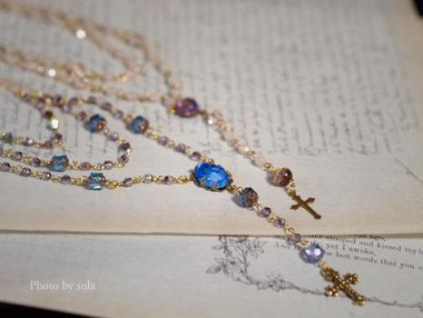 Doll size rosary by solalis1226