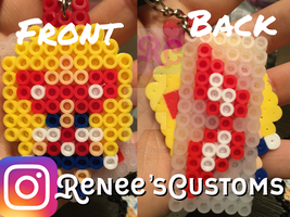 Sailor V perler keychain by ReneesCustoms