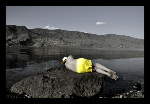 The Man in Yellow Trunks by Esades