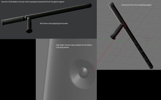Tonfa Batton 3D by SlimJimmi