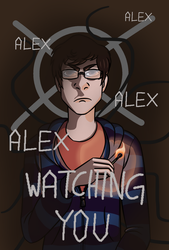 Alex watching you (redrawn) by kittyface18