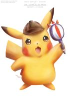Detective Pikachu (with the Lens of Truth) by Advent-Hawk