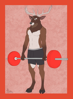 Stag Deadlifts by gangstaguru