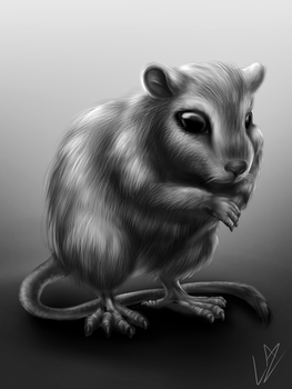 Mousey Friend (Gift) by LupiArts