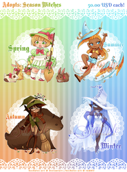 Adopts - Season Witches [SOLD] by Beedalee-Art