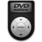 DVD Player Icon - Carbon Fiber by LRSCREW