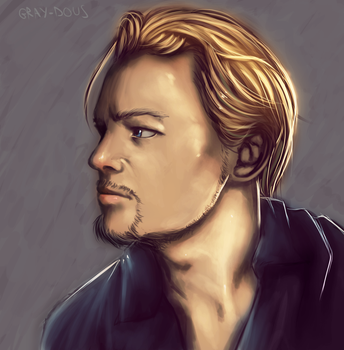 Leonardo DiCaprio - Digital Drawing by Gray-Dous