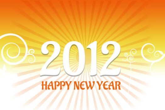 2012 New year card vector by johnlev