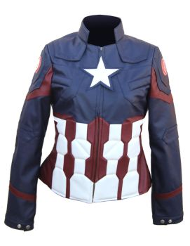Civil War Captain America Jacket for Women by eileenhayes315