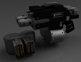 Warhammer 40K Combi-Bolter by ClaireGrube