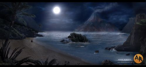 Moonlight Arrival by Anna-Roberts