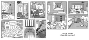 Setting Sketches by NathanButlerArt