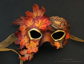 Autumn Maple II - Leather Mask by windfalcon