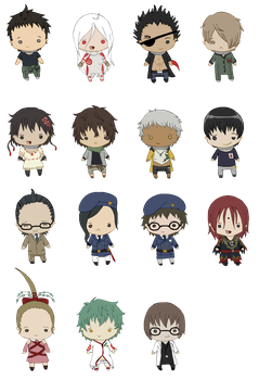 Deadman Wonderland Minis by queen-of-rainbows