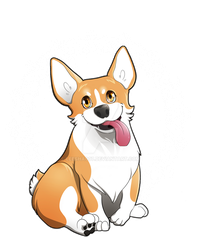 Classic Derp - Red and White Corgi by Leesha007
