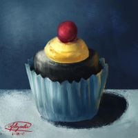 Cupcake Painting by Lazy-Whale