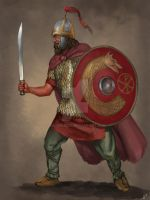 Frankish Infantry by JLazarusEB