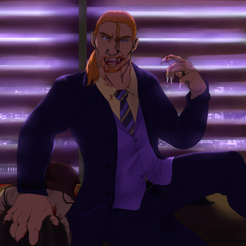Saints row Halloween DAY 26:Vampire Colin by petplayer976