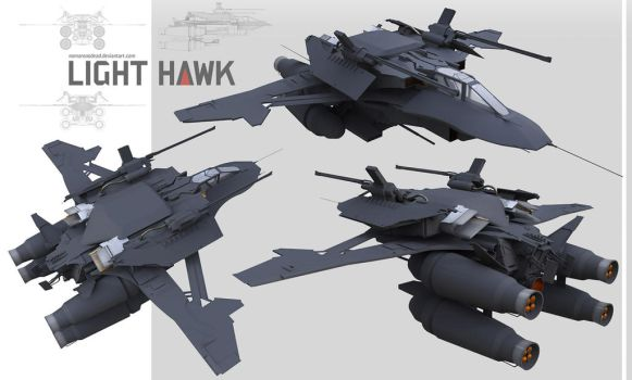 Light Hawk by NOMANSNODEAD