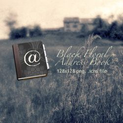Floral Address Book Icon by righteouShreddr