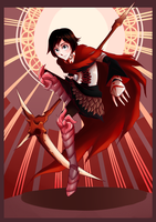Knight of Divine Red: Ruby Rose by ARSONicARTZ