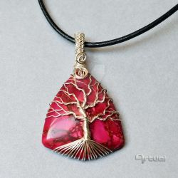 Jasper tree of life pendant by artual