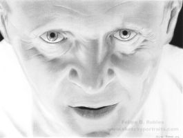 Anthony Hopkins as Hannibal Lecter by felipumz